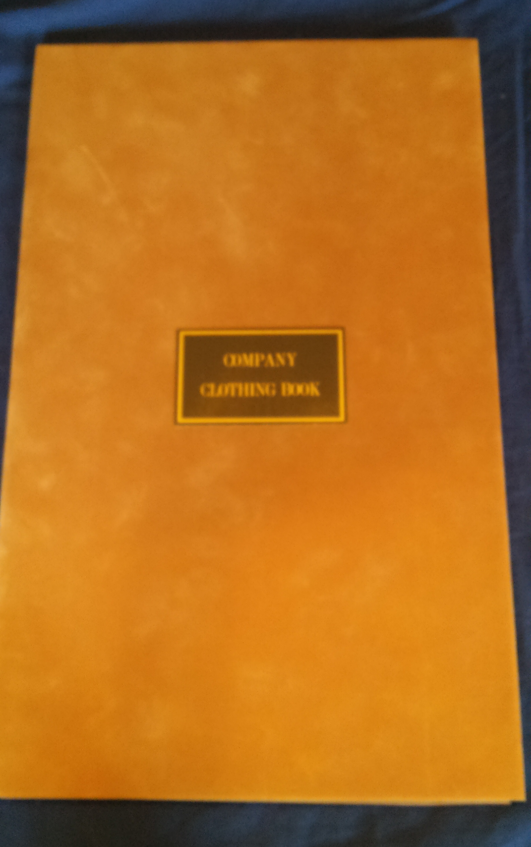 Company Clothing Book