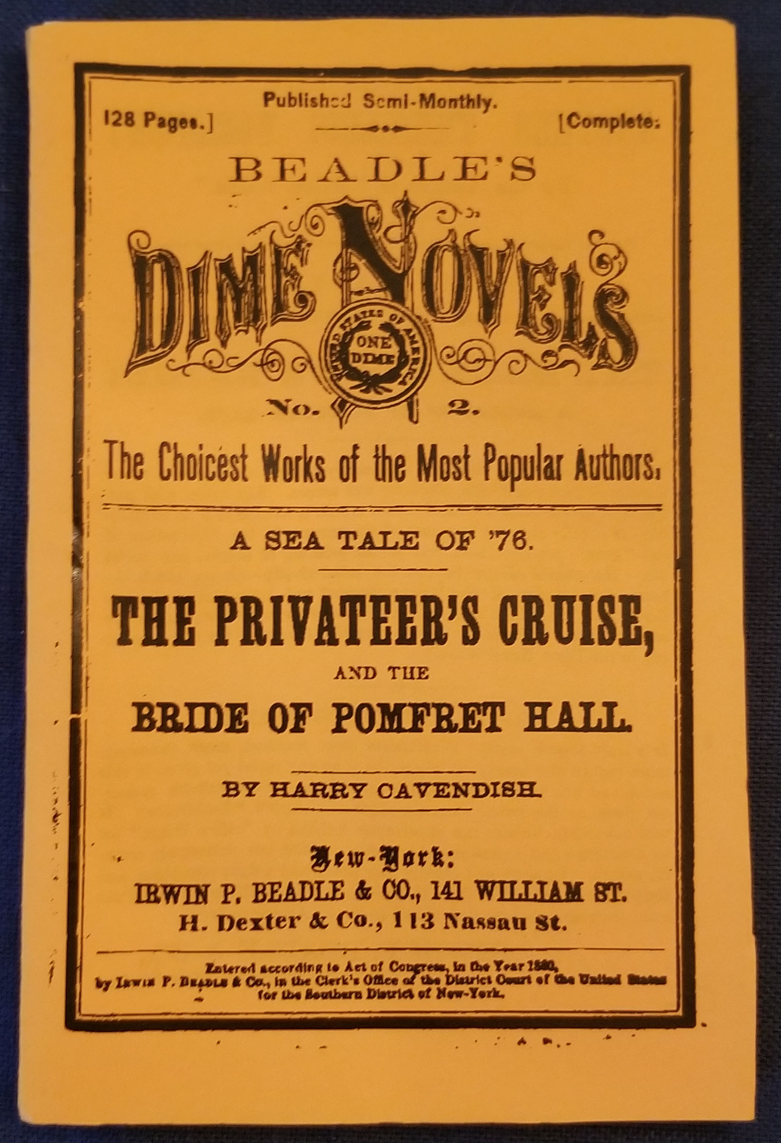 Dime Novel - The Privateer's Cruise