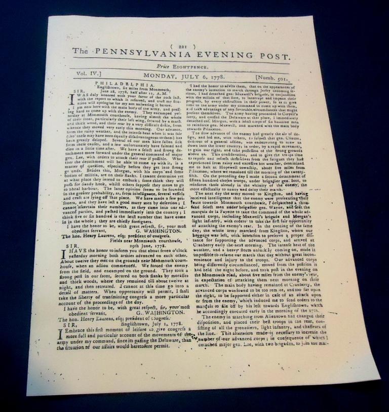 1778 Penna. Evening Post