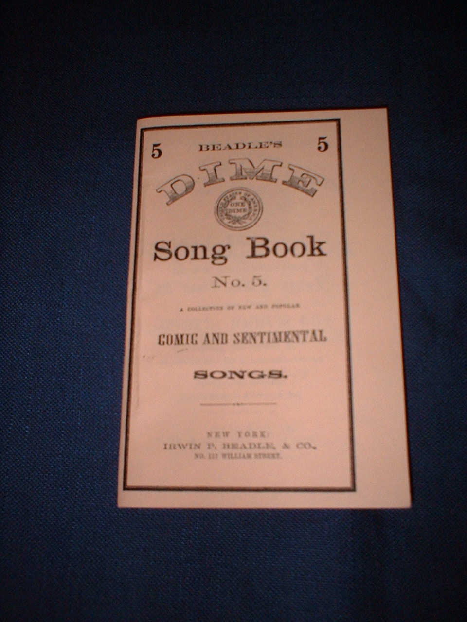 Dime Song Book Number 5