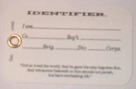 US Christian Commission ID Card