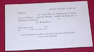 British Half-Pay Oath