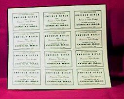 Enfield Cartridge Labels