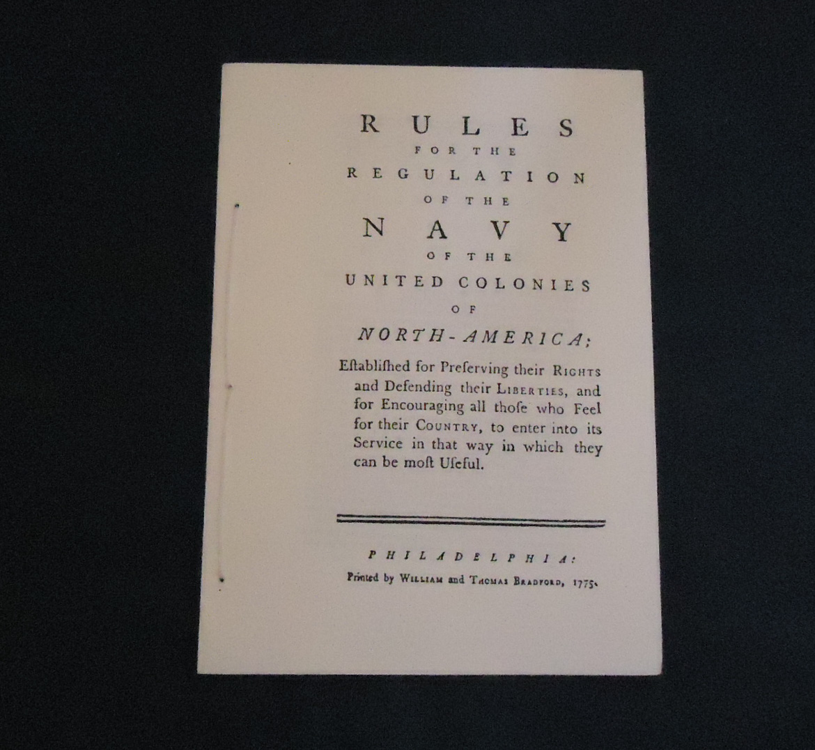 American Naval Articles of War - 1775