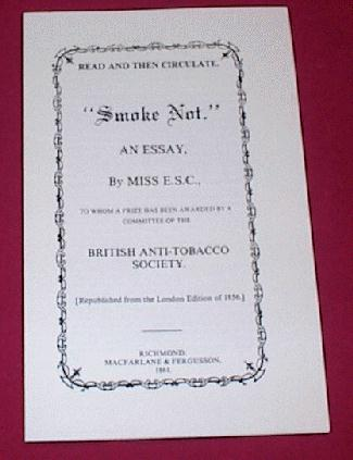 Smoke Not Pamphlet