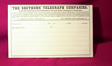 Southern Telegraph Sheets