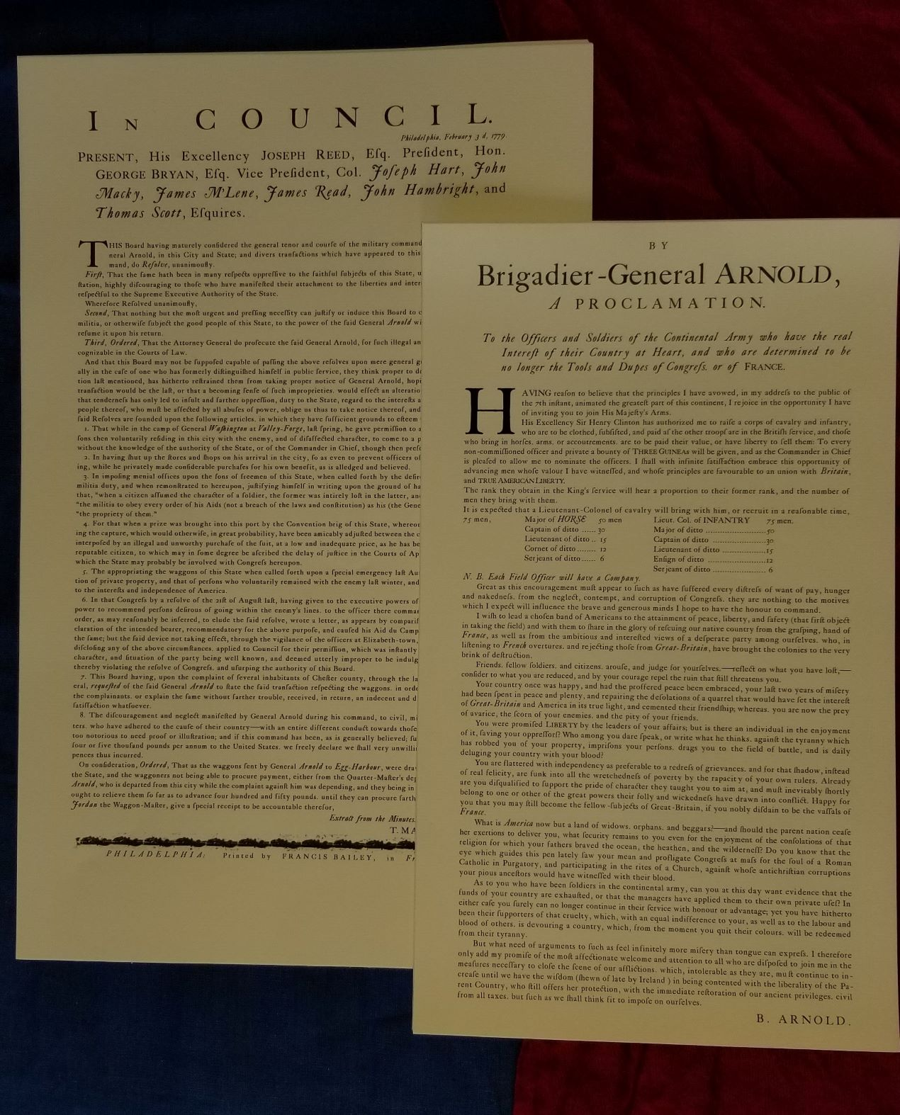 Traitor - Benedict Arnold documents