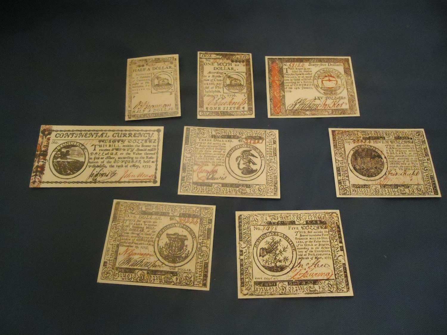 Continental Currency - Set 1