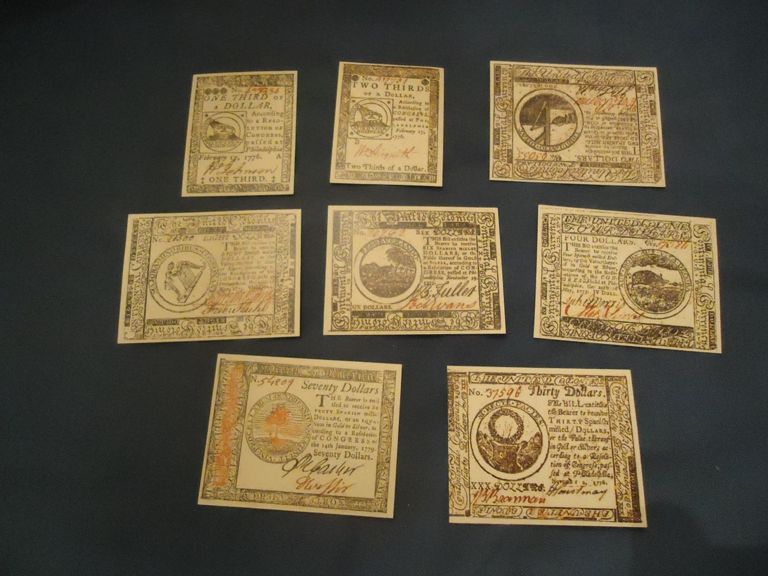 Continental Currency - Set 2