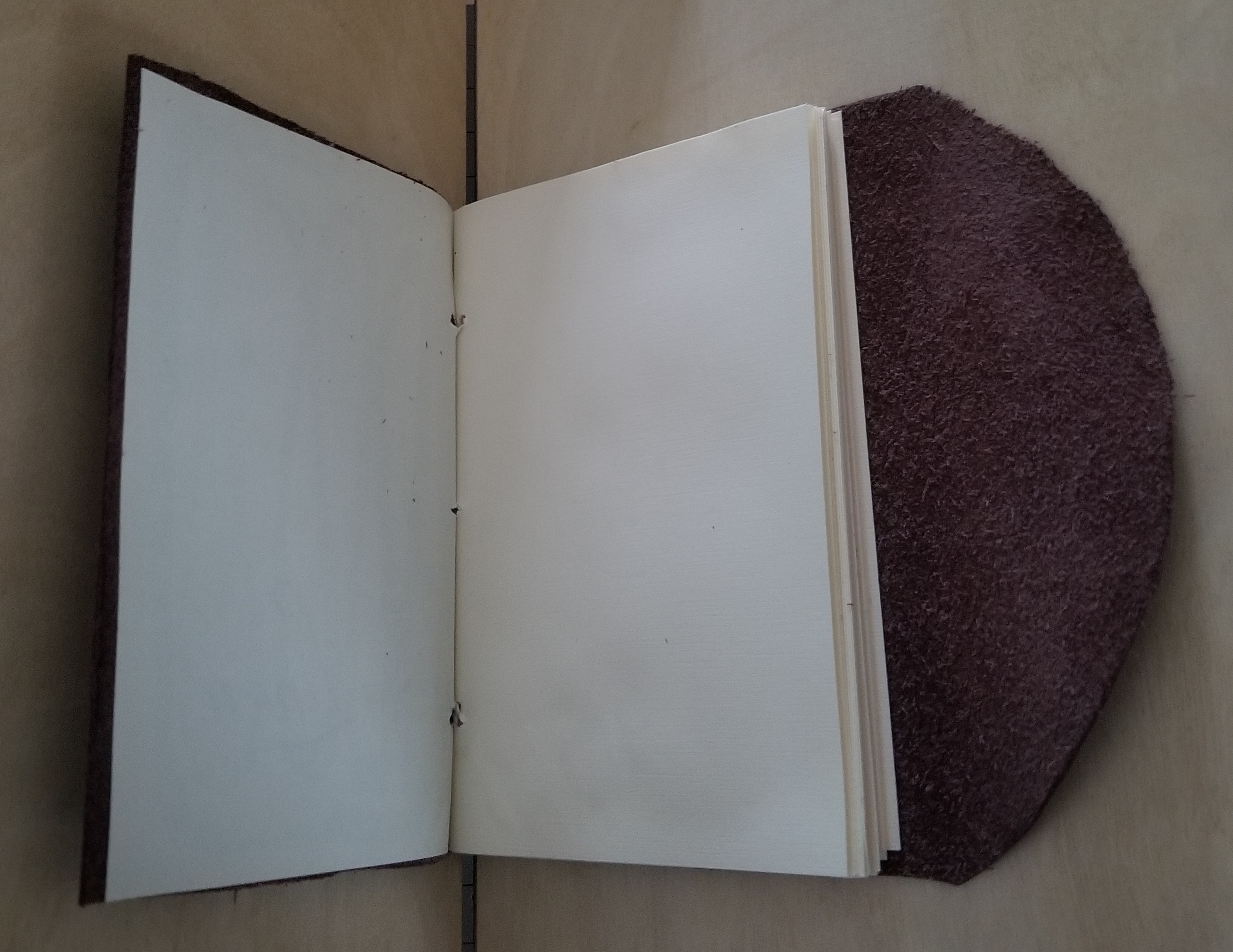 Leather Covered Pocket Blank Book