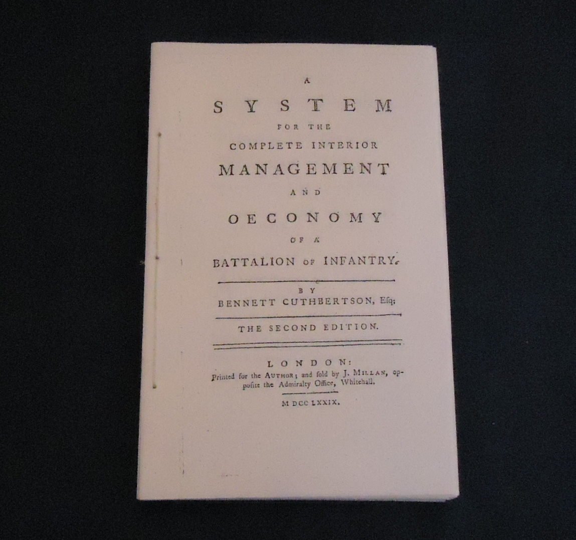 Cuthbertson's System of Management of Infantry