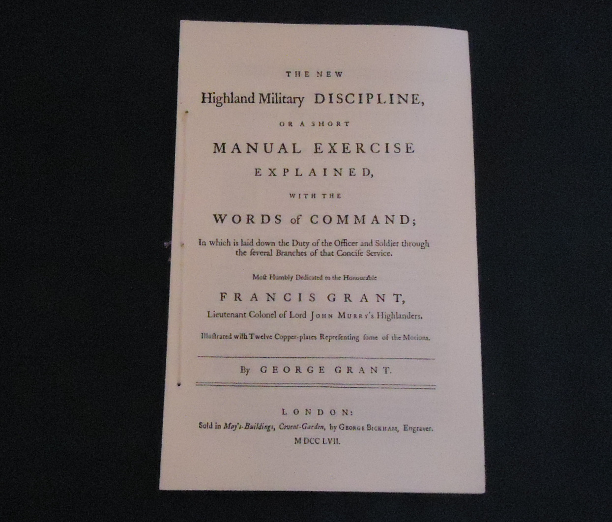 1757 Highland Miliatry Discipline