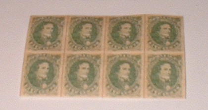 Confederate 5 cent stamps