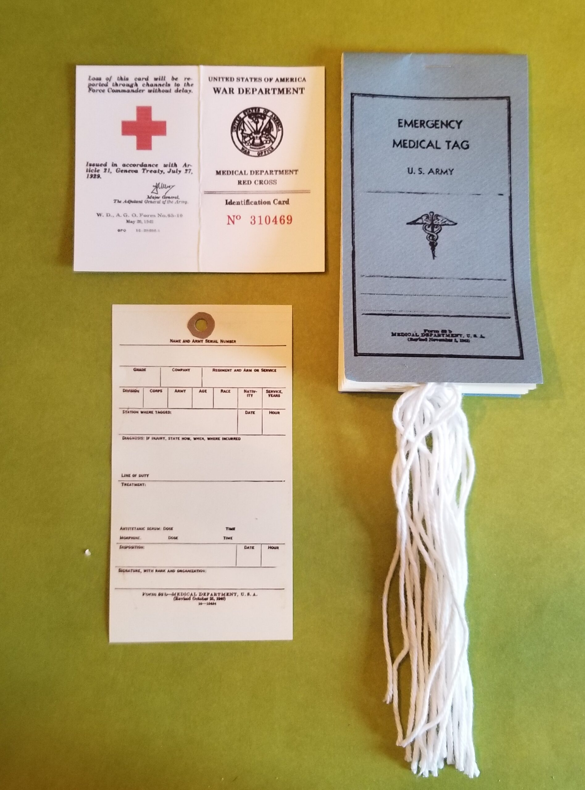 Medic Card and Wound Tag Booklet